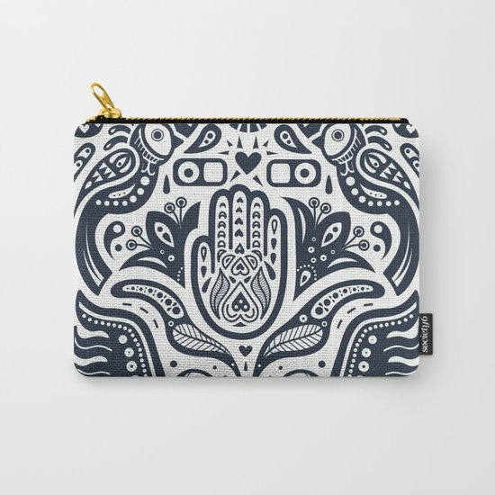 Folklore Pattern Carry-All Pouch
