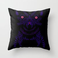 yorkie Throw Pillows featuring Yorkie by lunesme