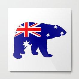 Australian Flag - Polar Bear Metal Print