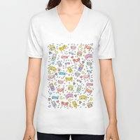 gaming V-neck T-shirts featuring Gaming by Irene Florentina