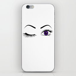 Violet Wink (Left Eye Open) iPhone Skin