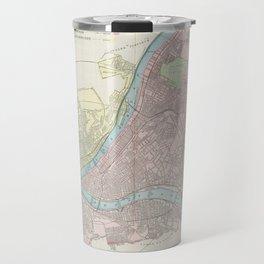 Vintage Map of Pittsburgh Pennsylvania (1901) Travel Mug