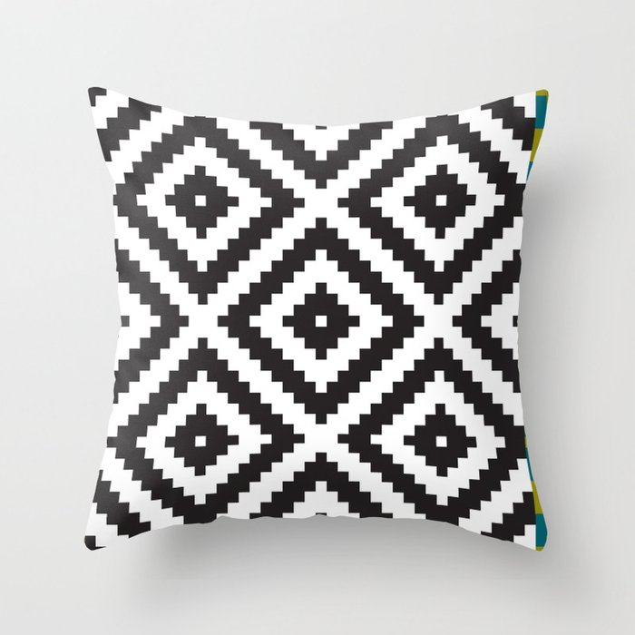 IKEA LAPPLJUNG RUTA Rug Pattern Throw Pillow by dizzymoments