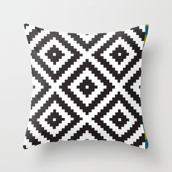 IKEA LAPPLJUNG RUTA Rug Pattern Throw Pillow by dizzymoments