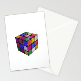 The color cube Stationery Cards
