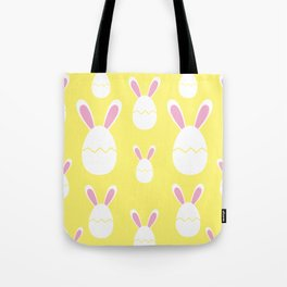 Happy Bunnies in Yellow | Easter Bunny | Easter Egg Bunny | pulps of wood Tote Bag