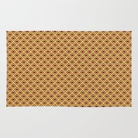 70s Area & Throw Rugs featuring 70s Pattern by Ryan Winters