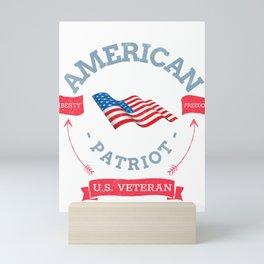 American Samoa US Veteran and Patriot  Mini Art Print