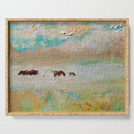 Wild Horses Summer Shimmer by CheyAnne Sexton Serving Tray