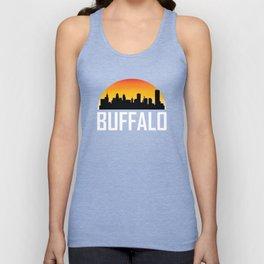 Sunset Skyline of Buffalo NY Unisex Tank Top