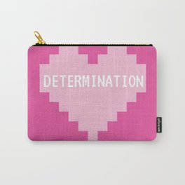 Pink Kawaii Undertale Determination pixel heart Carry-All Pouch