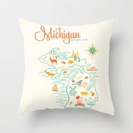 Michigan State Love  Throw Pillow
