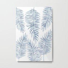 Fern Pattern Serenity Metal Print