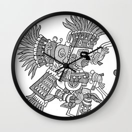 Ancient Mexican Design Wall Clock