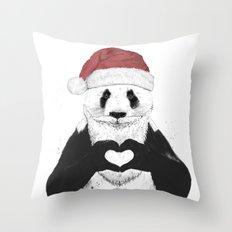 Santa panda Throw Pillow