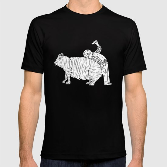 The Known Practice of using Domesticated Bears as cushions while drinking.  T-shirt