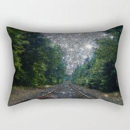 Train Tracks Sparkling Dream : Next Stop Anywhere Rectangular Pillow