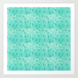 Water Drops Pattern Art Print
