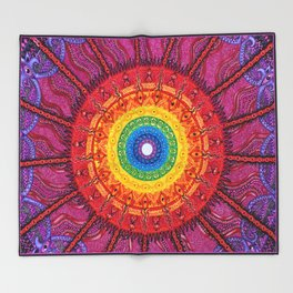 Eye of the Chakra Storm Throw Blanket