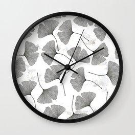 ginkgo biloba pattern Wall Clock
