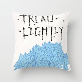 tread lightly - walter white Throw Pillow