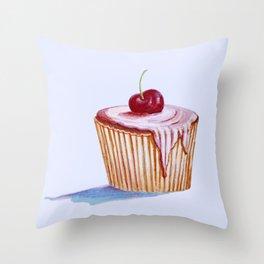 cherry cake Throw Pillow