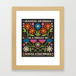 Justice Everywhere Framed Art Print