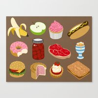 food Canvas Prints featuring Food by John Holcroft