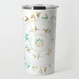 Kama Sutra Mandala Blue and Gold Travel Mug