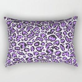 Leopard Print   Purple Rectangular Pillow