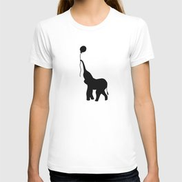 Elephant with Balloon - Pink T-shirt