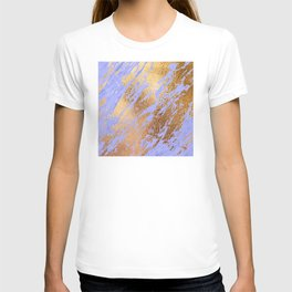 Pastel Lilac Faux Marble and 24-Karat Gold Veins T-shirt