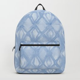 Braided Diamond Sky Blue on Lunar Gray Backpack
