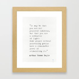 Arthur Conan Doyle quote Framed Art Print