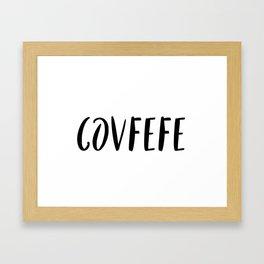 Covfefe in playful font Framed Art Print