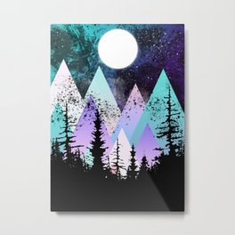 Forest Nebular Metal Print