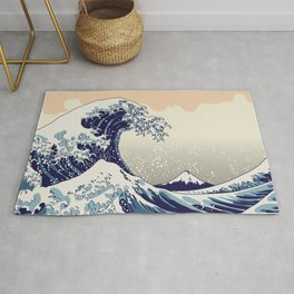 Digital copy of the Great wave Rug