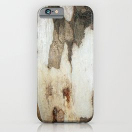 Peeling Bark Of A Eucalyptus Gum Tree iPhone Case