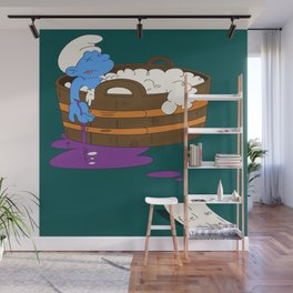 SUICIDAL SMURF  Wall Mural