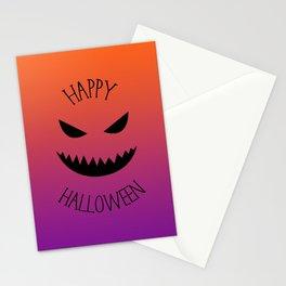 Happy Halloween - Orange and Purple Stationery Cards