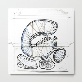 From Simplicity 2 Complexity series - Mitochondria Connections Metal Print