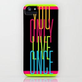 Cascading Neon YOLO iPhone Case