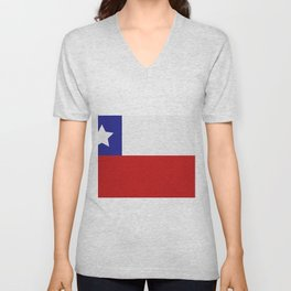 Chile flag Unisex V-Neck