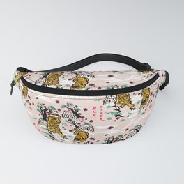 Tiger and Pug Japanese style Fanny Pack