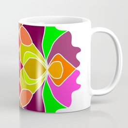 Hand-drawn Henna Mandala Flowers Coffee Mug