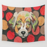 puppy Wall Tapestries featuring Puppy Love by Sartoris ART