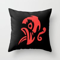 bioshock infinite Throw Pillows featuring Bioshock Infinite Vigors - Murder Of Crows by GunnerGrump