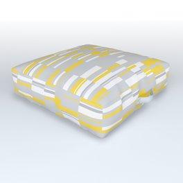 Mosaic Rectangles in Yellow Gray White #design #society6 #artprints Outdoor Floor Cushion