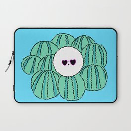 Cute Bichon frise dog with watermelon background. character design Laptop Sleeve