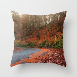 The Orange Forest Throw Pillow